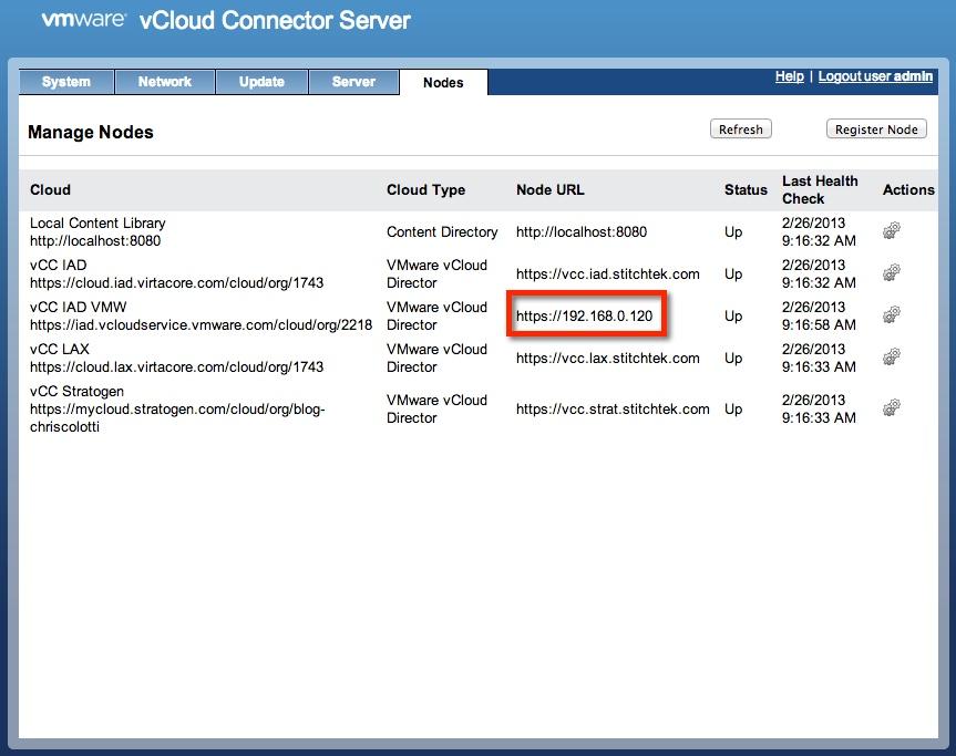 vcloud connector server